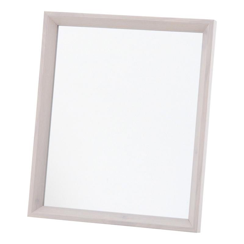 送料無料 4個セット 卓上ミラー 木製 スタンドミラー 化粧鏡 コスメ ヘアメイク 鏡 メイクアップミラー おしゃれ かわいい 北欧 ホワイト