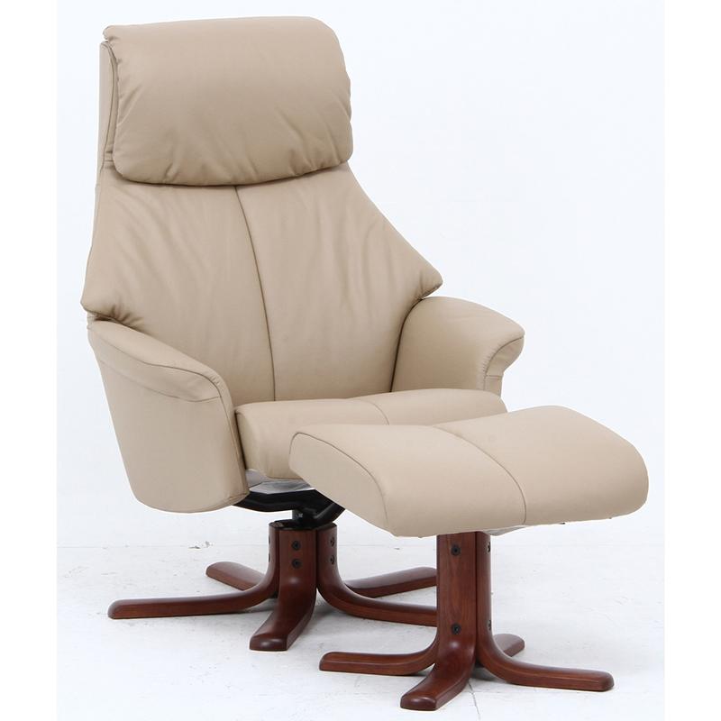送料無料 本革パーソナルチェア パーソナルチェア オットマン リクライニング パーソナルチェアー 脚置き イス チェア 椅子 一人掛け リラックスチェア レザー シンプル モダン おしゃれ