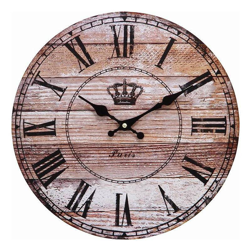 送料無料 6個セット ウォールクロック アンティークウッドφ28cm 掛け時計 掛時計 かけ時計 壁掛け時計 壁掛け シンプル 北欧 モダン かわいい おしゃれ