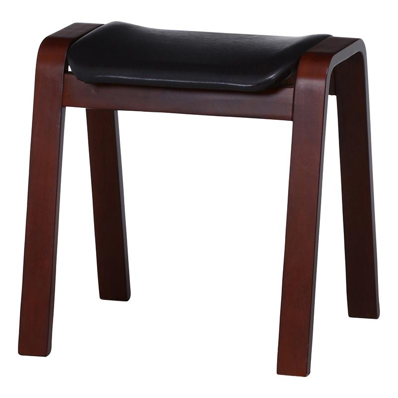 送料無料 4脚セット 曲木スツール スツール イス 椅子 いす チェアー チェア ハイタイプ スタッキング 合皮 腰掛け 木製 会議室 リビング キッチン オフィス シンプル モダン コンパクト おしゃれ かわいい 北欧 ブラウン