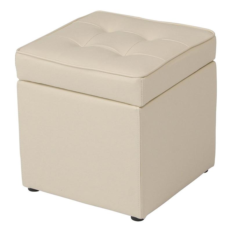 送料無料 スツール 収納付き ボックス オットマン 椅子 ボックススツール チェアー 1人掛け ベンチ おもちゃ 収納ボックス 脚置き 玄関 リビング シンプル 西海岸 男前インテリア おしゃれ かわいい アイボリー