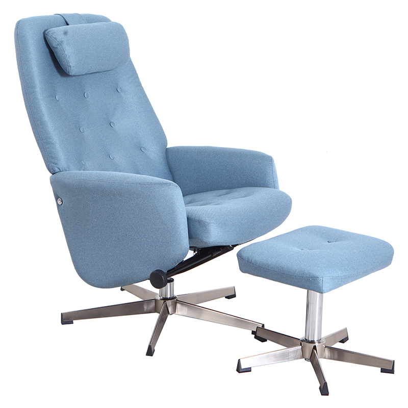 送料無料 パーソナルチェア オットマン セット リクライニング パーソナルチェアー パーソナル チェアー 脚置き イス チェア 椅子 一人掛け リラックスチェア 撥水 シンプル モダン おしゃれ ブルー