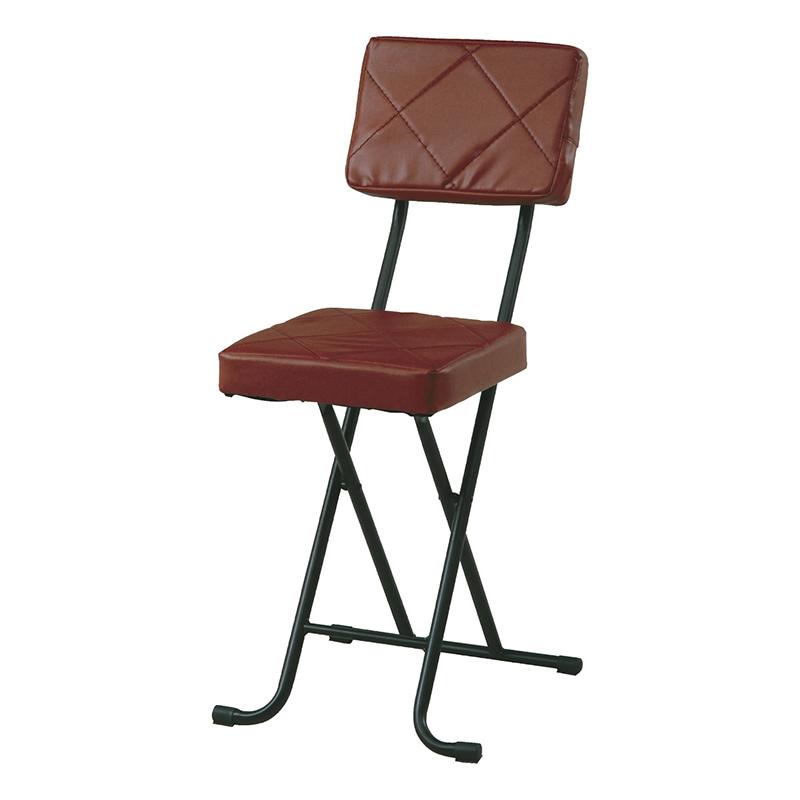 送料無料 4脚セット フォールディングチェアー スチール 折りたたみ チェアー いすイス 椅子 コンパクト リビング キッチン 会議室 シンプル モダン おしゃれ ブラウン