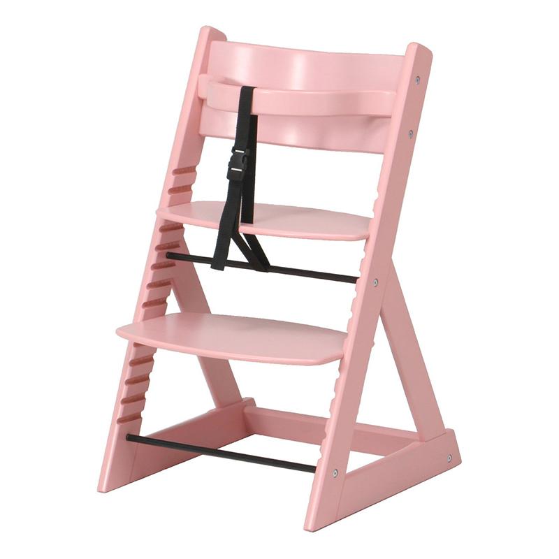 送料無料 グローアップチェアー キッズチェア 木製 ハイチェア キッズ 木製 木製チェア ベビーチェア ハイタイプ 子供椅子 子供用チェア シンプル モダン おしゃれ ピンク