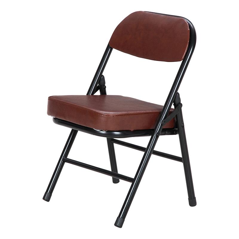 送料無料 6脚セット 背付ミニチェアー 折りたたみ チェアー いす 椅子 イス オフィスチェアー ワークチェア 事務椅子 デスクチェア 折り畳み パイプ フォールディングチェアー 会議室 シンプル モダン おしゃれ ブラウン