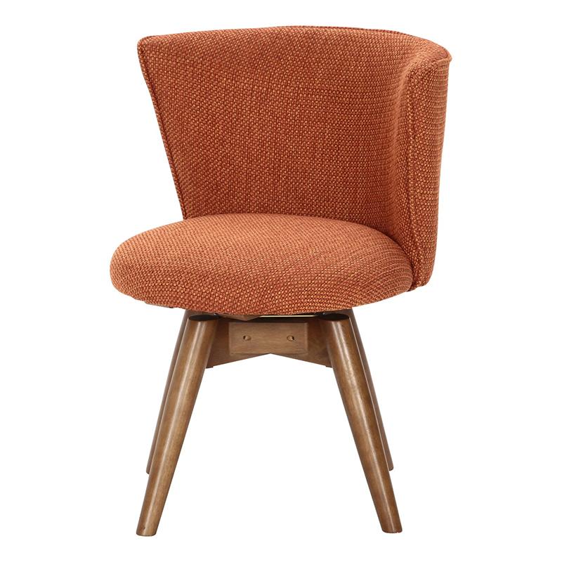 送料無料 ダイニングチェアー 単品 1人掛け ダイニングチェア 回転式 回転チェアー クラム ファブリック イス 椅子 いす チェアー チェア 食卓椅子 1人がけ インテリア 北欧 シンプル モダン 高級感 おしゃれ デザイン オレンジ