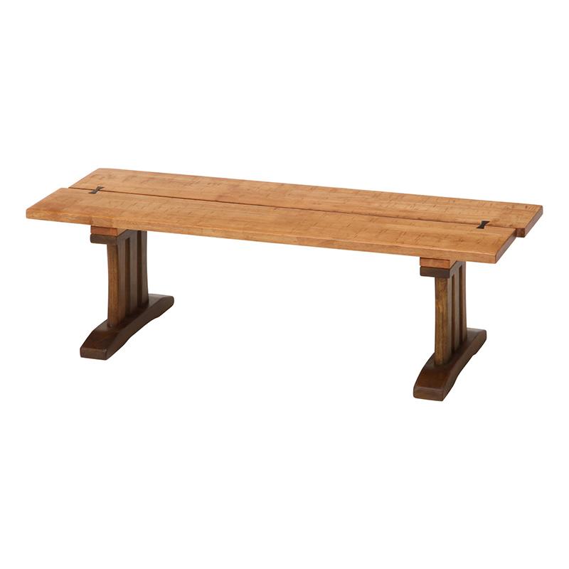 送料無料 ベンチ ダイニングベンチ 幅115cm 木製 天然木 2人用 二人掛け いす イス チェア 背もたれ無し 楔 ベンチシート 食卓 ベンチチェアー スツールベンチ シンプル 北欧 モダン レトロ 高級感 おしゃれ デザイン ナチュラル×ブラウン