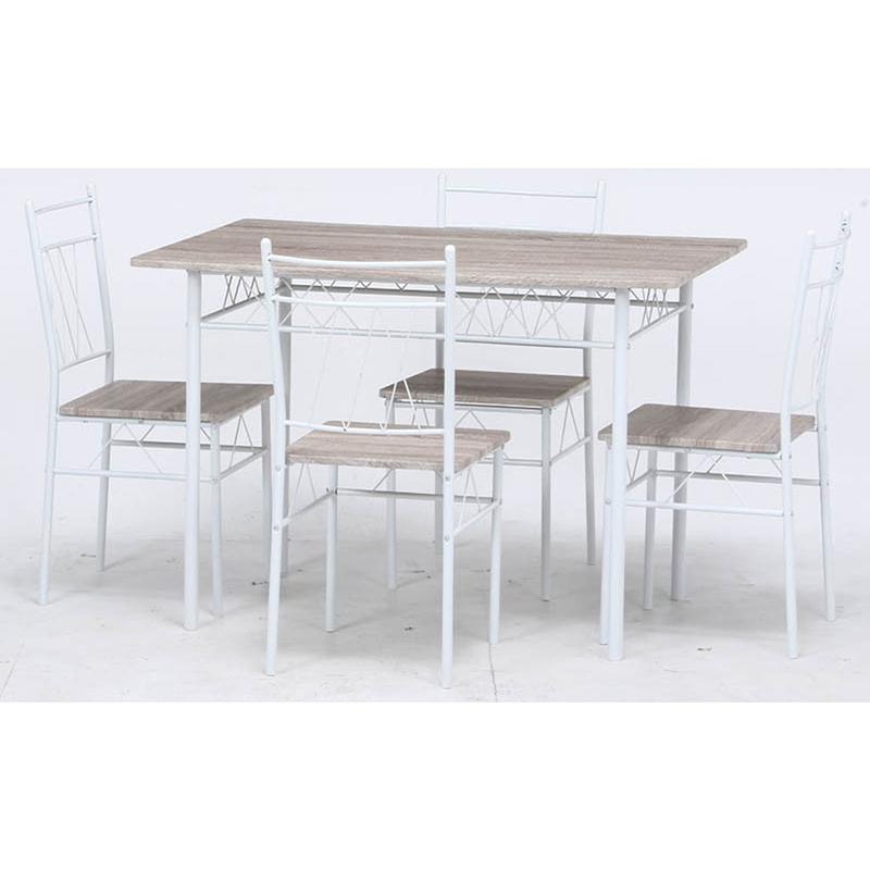 送料無料 ダイニングテーブル セット ダイニング5点セット リビング テーブル 椅子 いす 4人がけ 4人用 4人掛け フルーレ ホワイト カントリー インテリア フレンチ おしゃれ