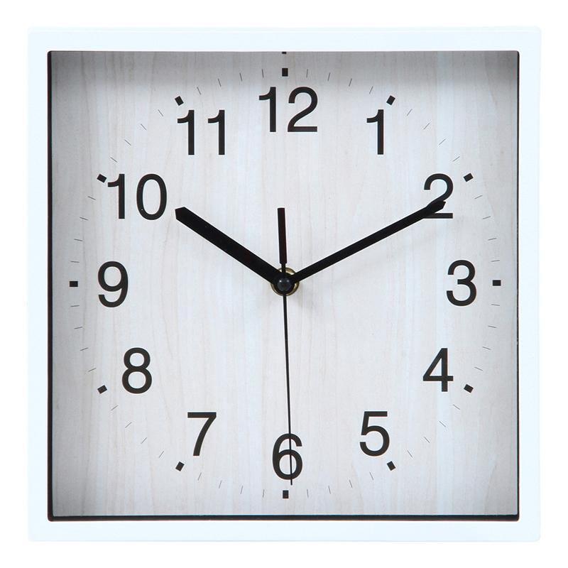 送料無料 6個セット 掛時計 シオン □24cm ホワイト 掛け時計 ウォールクロック かけ時計 壁掛け時計 壁掛け シンプル 北欧 モダン かわいい おしゃれ