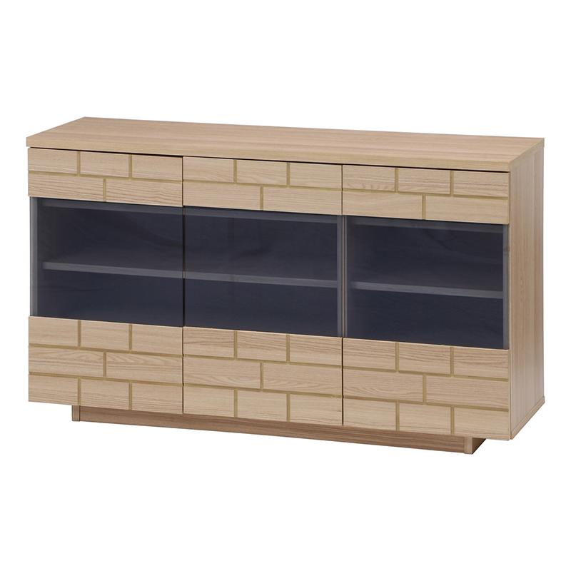 送料無料 キャビネット 木製 食器棚 幅120cm リビング収納 飾り棚 カップボード キッチン収納 収納棚 棚 キッチン ラック 電話台 FAX台 おしゃれ 北欧 レトロ モダン かわいい カントリー アンティーク ナチュラル
