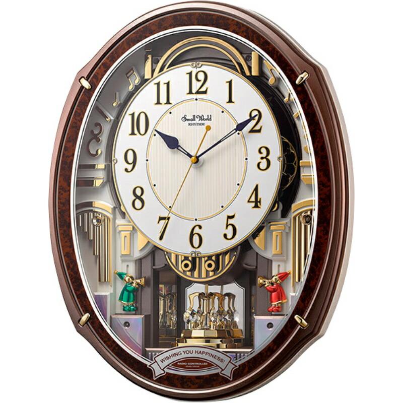 【まとめ買い5セット】RHYTHM スモールワールドアルディ リズム 電池式 壁掛時計 壁掛け時計 シンプル おしゃれ レトロ リビング 壁時計 壁掛け ウォッチ 北欧 アンティーク ヨーロッパ リビング