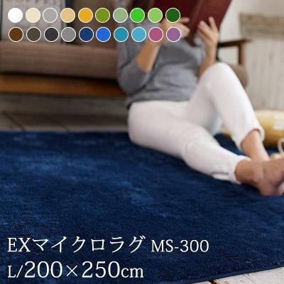 送料無料 ラグ マット カーペット ラグマット 洗える ウォッシャブル EXマイクロラグ(MS-300) 200×250cm 床暖房 ホットカーペット対応 滑り止め付き すべり止め リビングラグ オールシーズン 寝室 子供部屋 おしゃれ 北欧