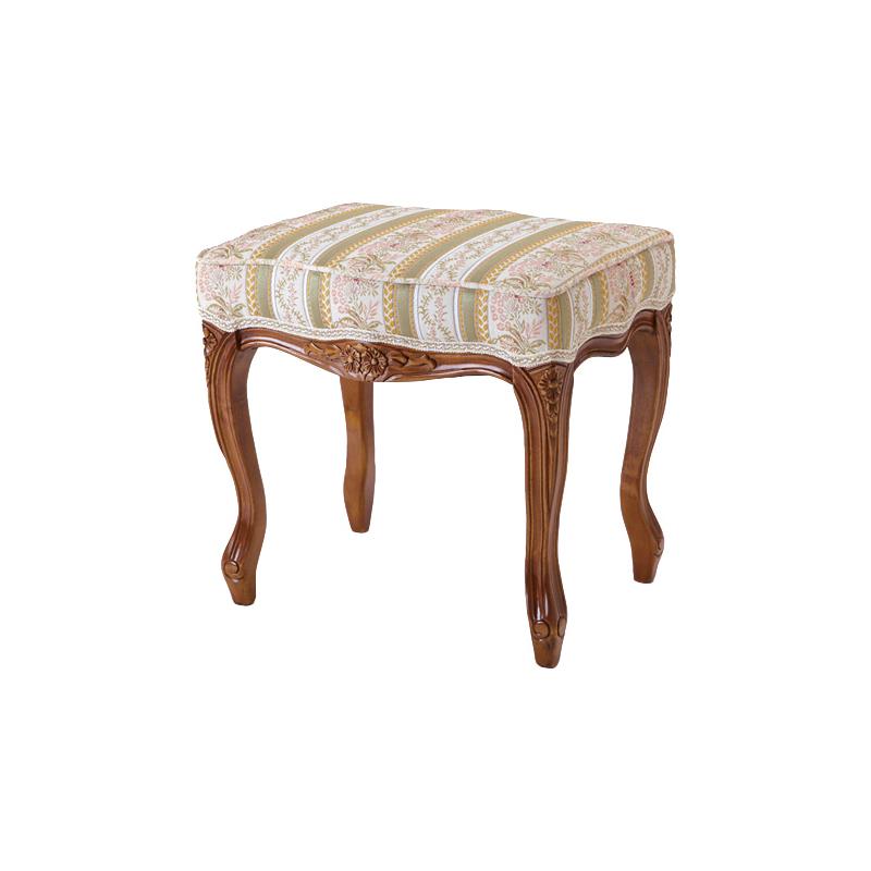 送料無料 スツール アンティーク オットマン 猫脚 猫 脚 フィオーレ 椅子 木製 おしゃれ いす イス ドレッサー 玄関腰掛け 足置き 1人掛け エレガント フレンチ ヨーロピアン クラシック 高級感 ブラウン SA-C-1470-B1