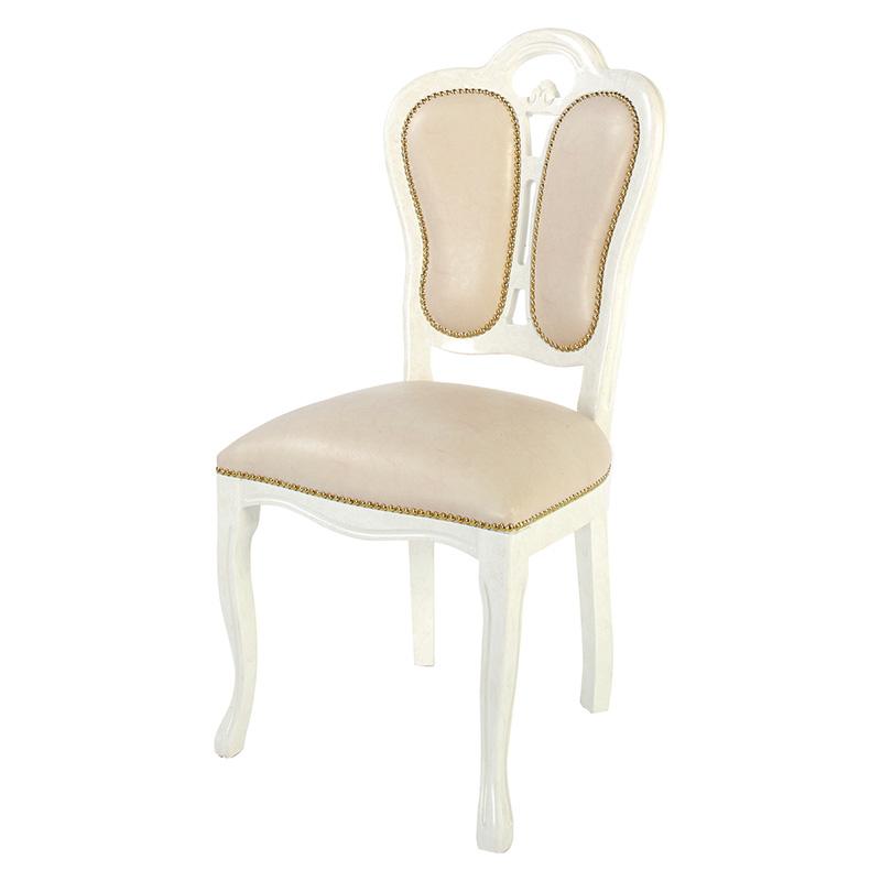 送料無料 ダイニングチェア チェアー アンティーク 合皮 レザー アンティークチェア おしゃれ 猫脚 猫 脚 ダイニングチェアー 食卓椅子 イス 椅子 いす チェア エレガント フレンチ ヨーロピアン クラシック 高級感 アイボリー SFLI-522-IV