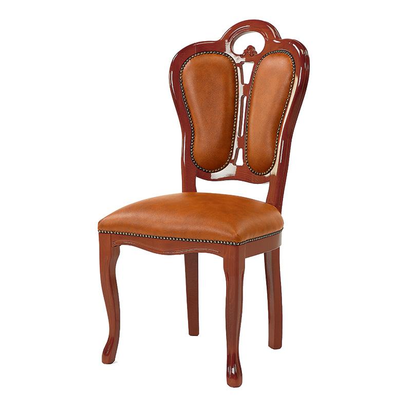 送料無料 ダイニングチェア チェアー アンティーク 合皮 レザー アンティークチェア おしゃれ 猫脚 猫 脚 ダイニングチェアー 食卓椅子 イス 椅子 いす チェア エレガント フレンチ ヨーロピアン クラシック 高級感 ブラウン 茶 SFLI-522-BR2