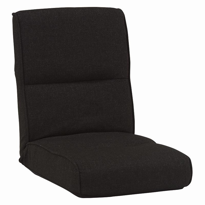 送料無料 5台セット 座椅子 リクライニング イス ポケットコイル 座いす イス 椅子 フロアチェア フロアソファ チェア 1人掛け 一人用 一人掛けソファー チェアー ブラック 黒 おしゃれ LZ-4691BK