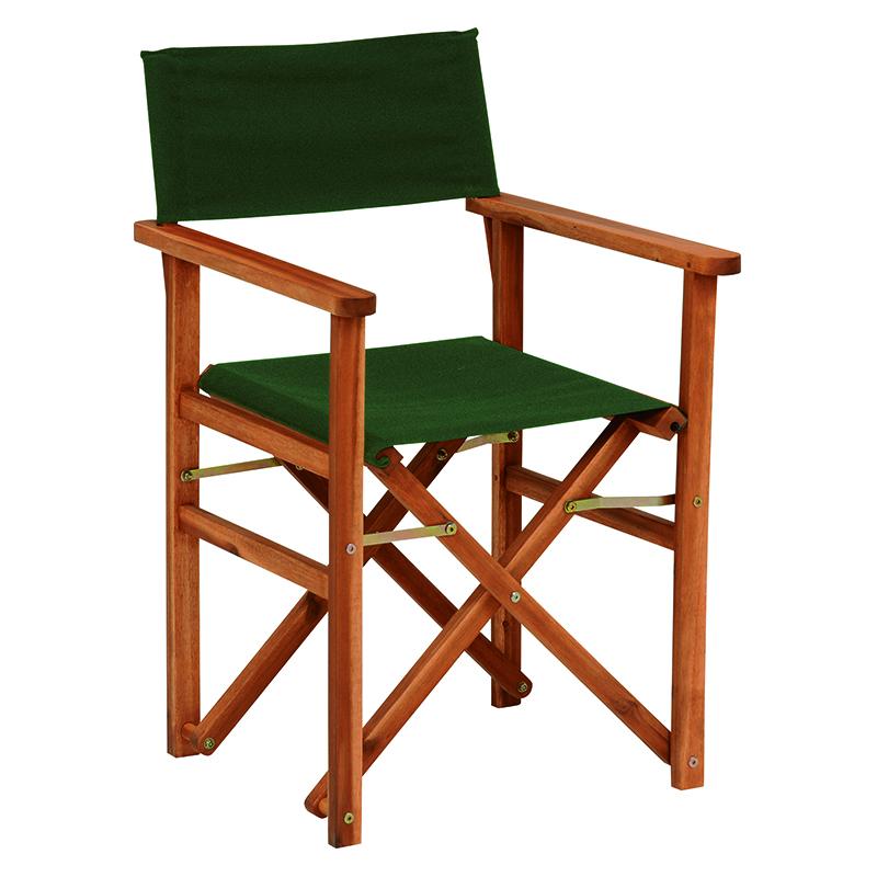 送料無料 2台セット ディレクターズ チェア ディレクターチェア おしゃれ 1人掛け 一人用 木製 折りたたみチェア チェアー 折り畳み 折畳み 折りたたみ椅子 いす イス ガーデン 屋外 庭 ベランダ テラス バルコニー コンパクト アウトドア グリーン 緑 VGC-7354GR-2