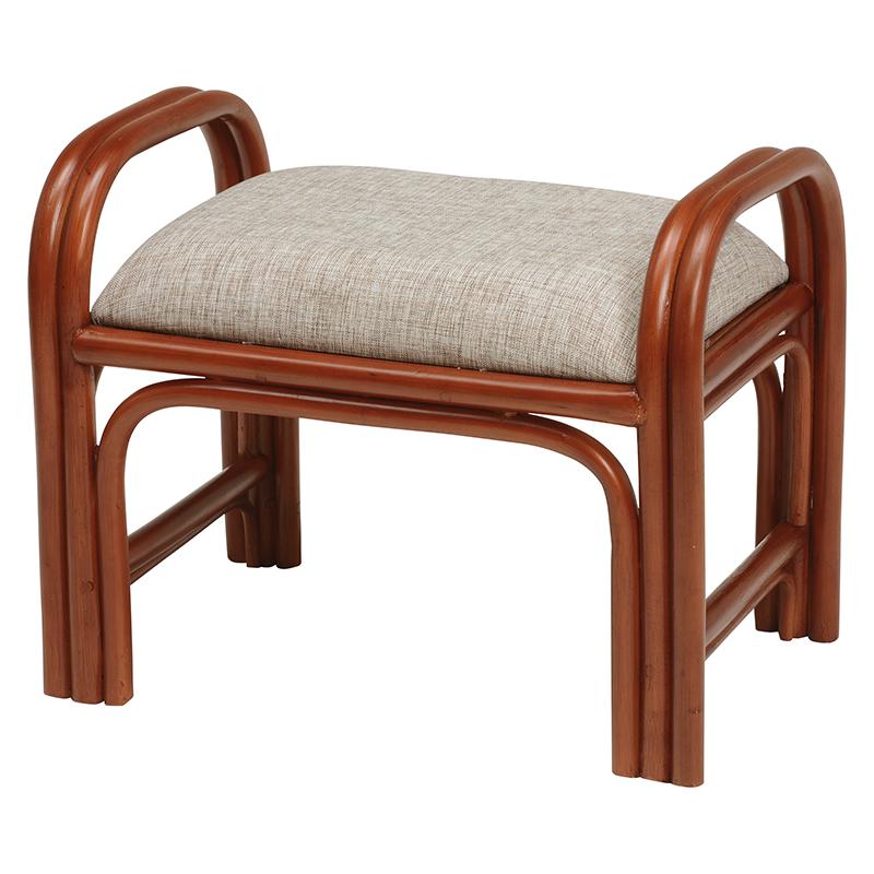 送料無料 6個セット 立ち上がり補助椅子 玄関 イス 玄関椅子 籐立ち上がりスツール コンパクト 高座椅子 椅子 いす 肘付き 腰掛け 木製 おしゃれ 籐 幅47×奥行30 ブラウン 茶 RH-168BR