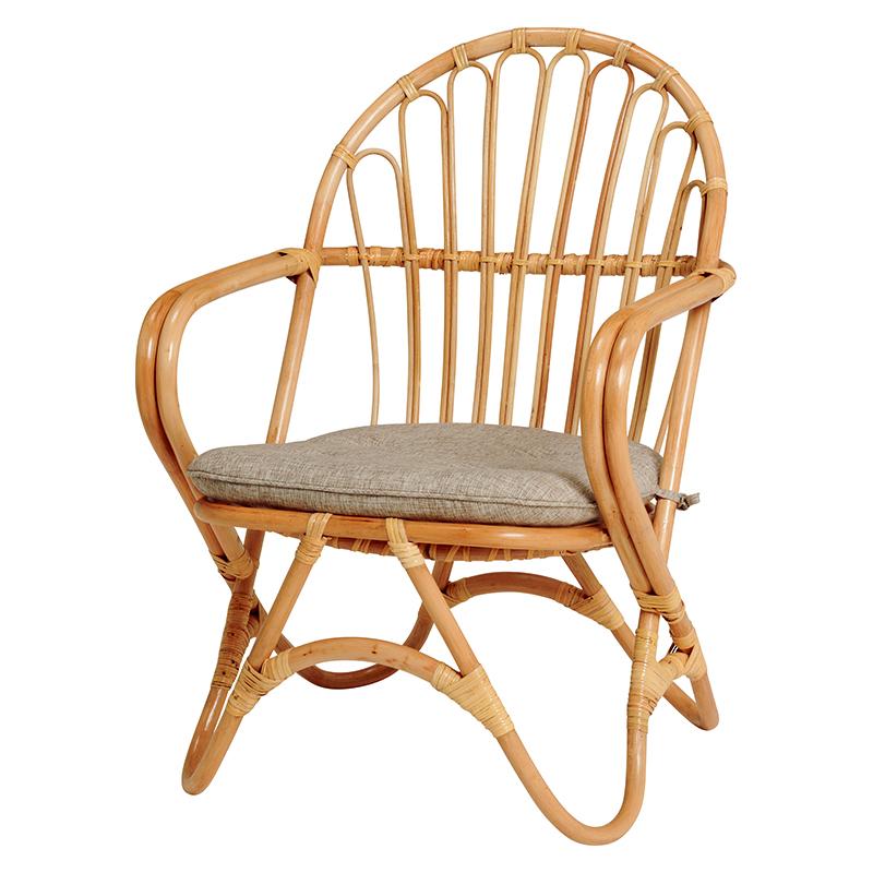 送料無料 籐チェアー 1人 籐家具 アジアン家具 ラタンチェア おしゃれ 木製 椅子 チェア イス チェアー ナチュラル アウトドア 和室 アジアン 座面高35cm ラタン RC-1076NA