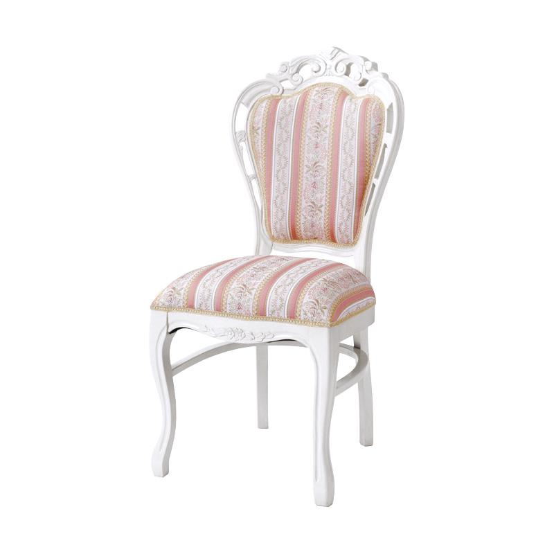 送料無料 チェアー アンティーク アンティークチェア おしゃれ 猫脚 猫 脚 ダイニングチェアー 食卓椅子 ダイニングチェア イス 椅子 いす チェア エレガント フレンチ ヨーロピアン クラシック 高級感 白家具 ホワイト 白 SA-C-1734-WH5
