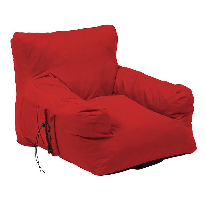 送料無料 クッション 大きい 圧縮ソファ クッションソファ ジャンボ 特大 背もたれ フロアソファー 1人掛け ふんわり おしゃれ かわいい シンプル 一人暮らし リビング 寝室 レッド グロー1P-RE