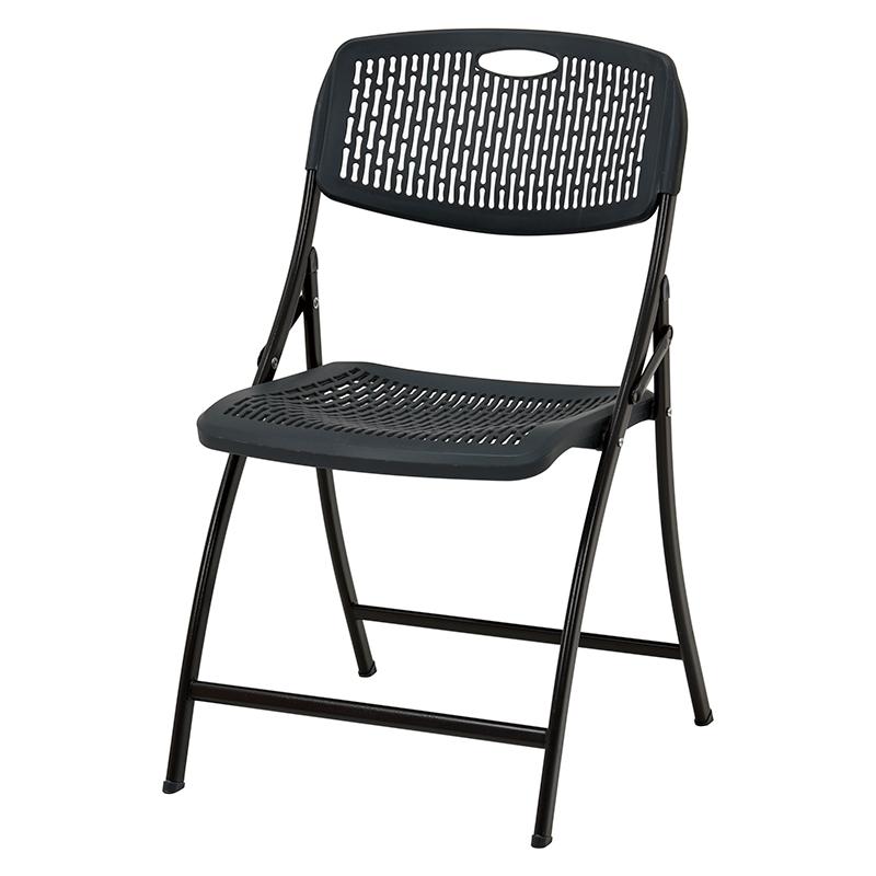 送料無料 チェア 2脚セット 折り畳みチェアー ガーデンチェア イス 椅子 カフェ テラス ベランダ ガーデンファニチャー スチール アウトドアチェア ビーチチェア おしゃれ グレー LC-4466GY