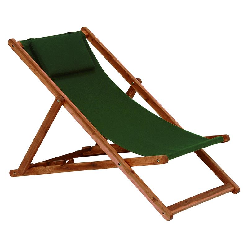 送料無料 リクライニングデッキチェア リラックスチェア リクライニング ガーデンチェア 折りたたみチェア チェアー 折りたたみ椅子 いす イス 1人掛け 一人用 屋外 木製 BBQ アウトドア 釣り チェア ヘッドレスト 省スペース キャンプ グリーン VGC-7353GR-1