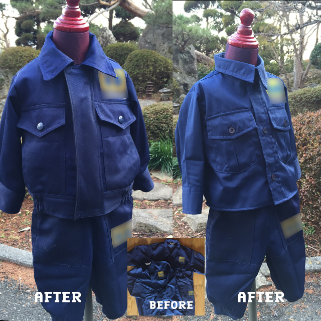 【リメイク・オーダーメイド】お父さんの作業着をお子様の作業着にリメイク