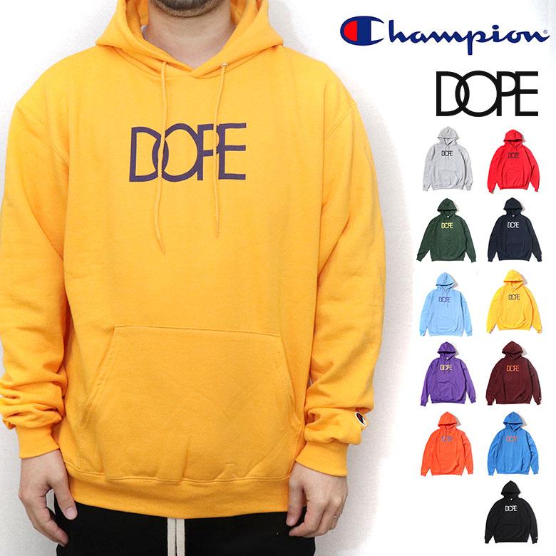 【20%OFF】 DOPE ドープ Champion チャンピオン パーカー スウェットパーカー CLASSIC LOGO DOPE×CHAMPION HOODIE プルパーカー プルオーバー スウェット ロゴ メンズ B系 ストリート系 大きいサイズ XXL 2XL 3L ファッション 服 おしゃれ かっこいい 人気 ブランド