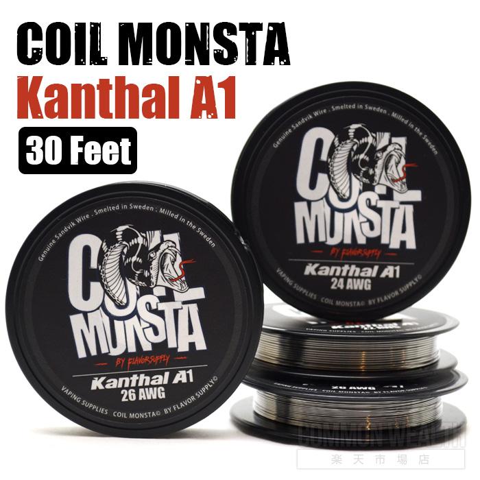 コイルモンスタ カンタル ワイヤー 世界トップブランドの品質を是非お試し下さい COIL MONSTA セール特価品 Kanthal A1 30 Feet 電子タバコ VAPE ビルド ベイプ メール便 送料無料 RBA 1着でも送料無料 DIY コイル