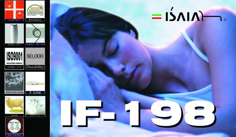 【ポイント10倍】【EU&国際11品質機関認証 15年&寝心地保証】シングル イサイア IF-198イタリア 7インチ 両面ピロートップ 低反発ポケットコイルマットレス