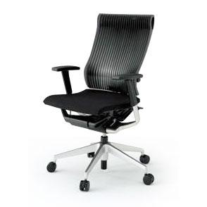 イトーキ ITOKI オフィスチェアスピーナ (SPINA)KE-757GP-Z5T1T1KE-757GP-Z5T1SG背面:エラストマーアジャスタブル肘付シルバーメタリック色ハイバック