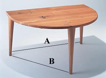 【送料無料】森のことば 半円形 ダイニングテーブルSN-390WPW150*D100cm