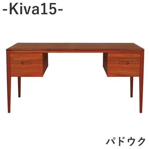 【ポイント10倍 ~6/25 AM9:59まで】Kiva 15 パドウクワークデスク引出し2列2段【幅150cm×奥行65cm×高さ72cm】杉工場