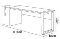 【除】【送料無料】168cm幅デスク DD-2700R-DWテリトリーバルバーニ valvanne