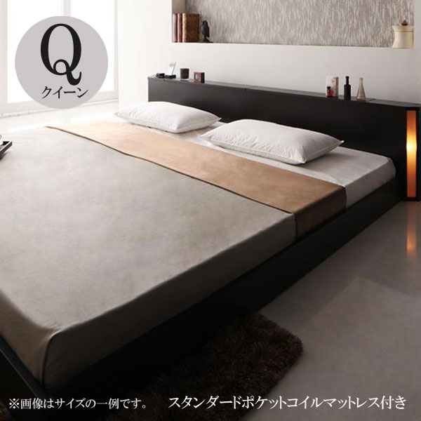 ベッド クイーン ベッド クイーンベッド マットレス付き ベッド センフィル スタンダードポケットコイルマットレス 040111928