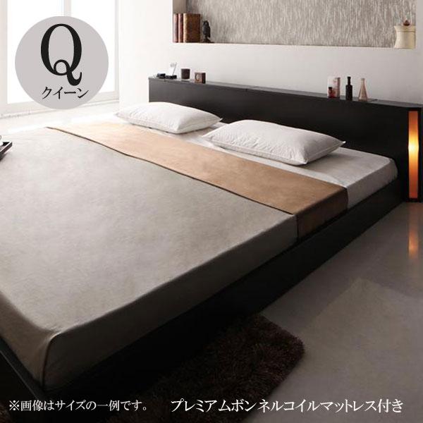 ベッド クイーン ベッド クイーンベッド マットレス付き ベッド センフィル プレミアムボンネルコイルマットレス 040111930