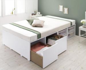 シングルベッド 大容量収納ベッド フリエーロ 薄型プレミアムボンネルコイルマットレス付き 引出し2杯 シングル 500040442