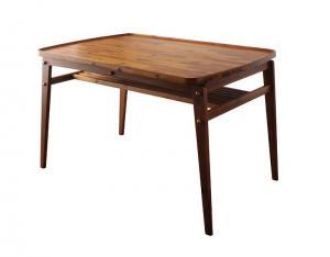 ダイニングテーブル 天然木モダンデザインダイニング アルケミー ダイニングテーブル W120