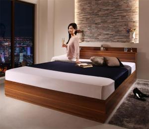 シングルベッド マットレス付き 棚 コンセント付き 収納ベッド アーヴァイン マルチラススーパースプリングマットレス付き シングル