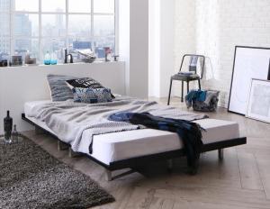 ベッド マットレス付き デザインボードベッド ストーンホルド スタンダードボンネルコイルマットレス付き スチール脚タイプ フルレイアウト ダブル フレーム幅140