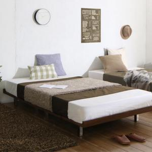 ベッド マットレス付き デザインボードベッド ビブリー マルチラススーパースプリングマットレス付き スチール脚タイプ フルレイアウト ダブル フレーム幅140