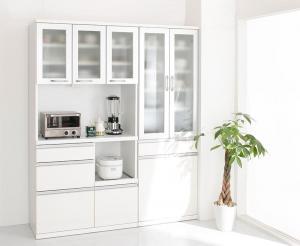開梱設置付 奥行41cmの薄型モダンデザインキッチン収納 Sfida スフィーダ 食器棚+キッチンボードセット 幅60+90