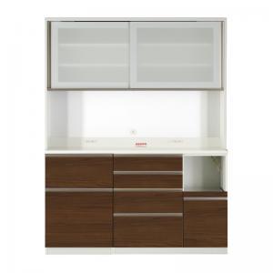 開梱サービスなし 大型レンジ対応 ハイカウンター90cmキッチンボード オレガノ キッチンボード 幅160 高さ205