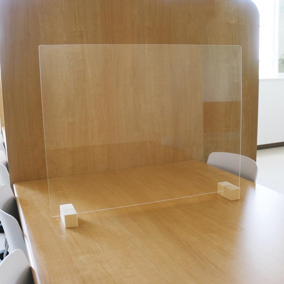 飲食店向け 飛沫防止ガードパネル L 約66x50cm 標準脚 10個セット 飛沫対策 コロナウイルス対策 飛沫感染予防 パーテーション