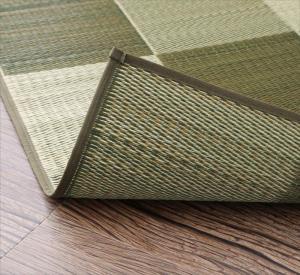 ラグ おしゃれ 厚みが選べる3タイプ 純国産ブロック柄い草ラグ カジュール ウレタンなし 140×200cm
