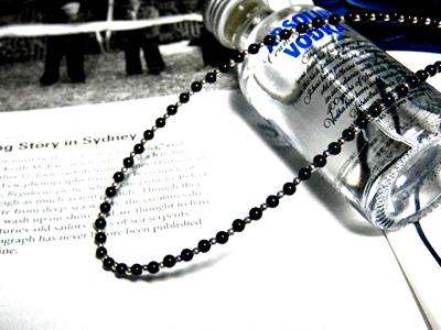 Silver&オニキス数珠連結チェーン【65cm】ネックレス オニキス チェーン パワーストーン メンズ レディース アクセサリー シルバー925 天然石 黒い石 silver925 芸能人 ジュエリー 魔よけ