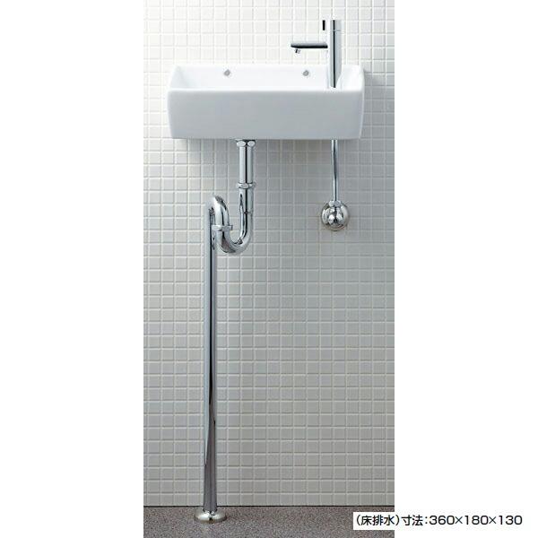 2019春の新作 手洗タイプ(角形) 【L-A35HB】リクシル 狭小手洗い器 床排水(Sトラップ) 店 【LIXIL】:コンパルト-木材・建築資材・設備