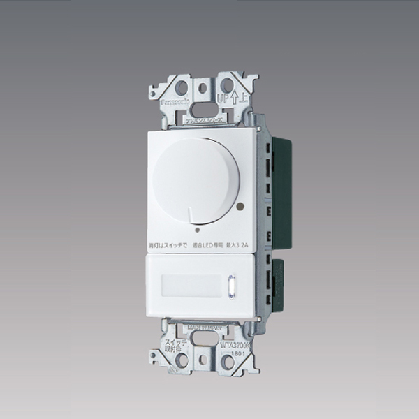 WTA57583WK パナソニック コントローラ アドバンスシリーズ配線器具 LED 3路両用 逆位相タイプ 上等 ロータリー式 上質 片切 埋込逆位相調光スイッチ