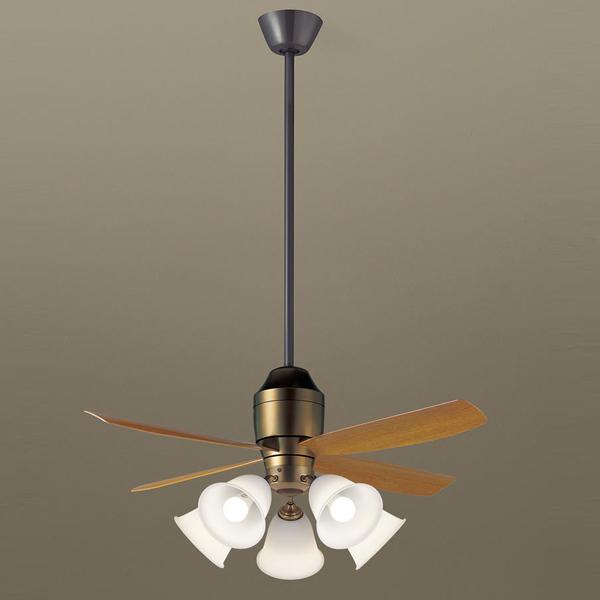 【XS73142K】 パナソニック 吊下型 LED(電球色) シーリングファン 12W・直付ボルト取付専用 風量4段切替・風向切替・1/fゆらぎ・3時間タイマー